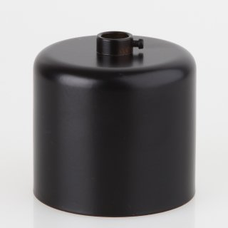 Lampen Baldachin 62x63mm Metall schwarz lackiert Zylinderform mit Stellring fuer 10mm Pendelrohr