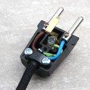 Schutzkontakt-Stecker schwarz 250V/16A Bakelit Optik