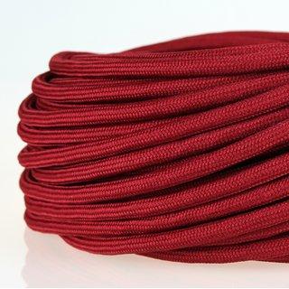 Textilkabel Stoffkabel bordeaux 3-adrig 3x0,75 Zug-Pendelleitung S03RT-F 3G0,75