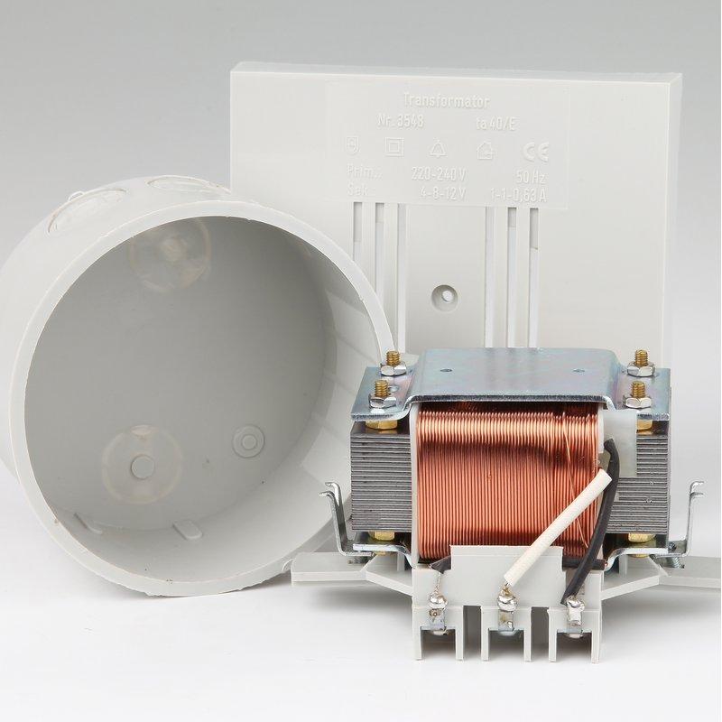 Klingeltrafo für Unterputz Montage 4-8-12V 230V Bittorf