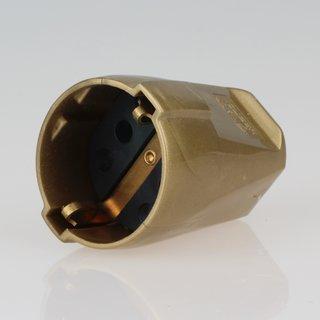 Schutzkontakt-Kupplung gold 250V/16A