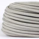 Textilkabel Stoffkabel silber 3-adrig 3x0,75...