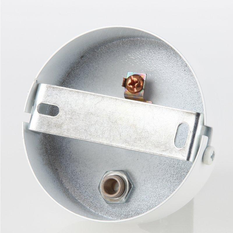 lampen metall baldachin 80x25mm weiss f r 2 lampenpendel mit zu. Black Bedroom Furniture Sets. Home Design Ideas