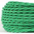 Textilkabel kiwi-grün 3 adrig 3x0,75 gedreht doppelt...