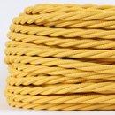 Textilkabel gelb 3 adrig 3x0,75 gedreht doppelt isoliert