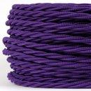 Textilkabel violett 3 adrig 3x0,75 gedreht doppelt isoliert