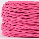 Textilkabel pink 3 adrig 3x0,75 gedreht doppelt isoliert