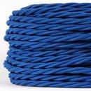 Textilkabel dunkelblau 3 adrig 3x0,75 gedreht doppelt...