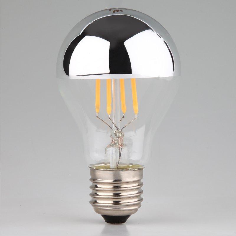 led filament kopfspiegellampe silber 7w 230v e27 24 95. Black Bedroom Furniture Sets. Home Design Ideas