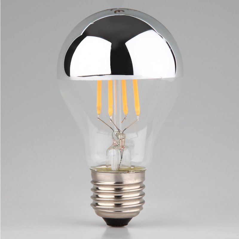 Led filament kopfspiegellampe silber 7w 230v e27 24 95 - Kopfspiegellampe led e27 ...