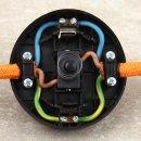 Fuß-Tretschalter Fußschalter Schnurschalter schwarz 65x30mm 250V/2A für Rundkabel