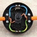 Fuß-Tretschalter Fußschalter Schnurschalter weiss 65x30mm 250V/2A für Rundkabel