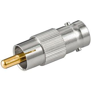 BNC-Kupplung /> 2 x BNC-Kupplung T-Adapter mit Goldkontakten BNC T-Stück