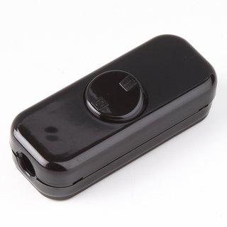 Schnurschalter Schnur-Zwischenschalter schwarz 80x33mm 250V/10A