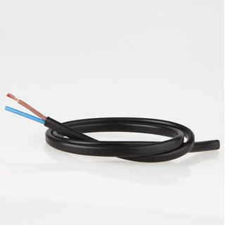 PVC Lampenkabel Flachkabel schwarz 2-adrig, 2x0,75mm² H03 VVH-2F