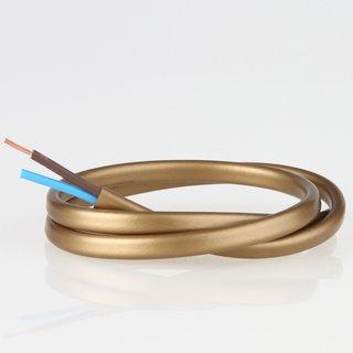 PVC Lampenkabel Flachkabel gold 2-adrig, 2x0,75mm² H03 VVH-2F