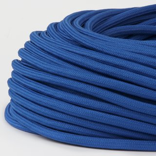 Textilkabel Stoffkabel dunkelblau 3-adrig 3x0,75 Zug-Pendelleitung S03RT-F 3G0,75