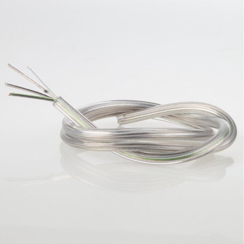 pvc lampenkabel transparent 3 adrig 3x0 75mm mit. Black Bedroom Furniture Sets. Home Design Ideas
