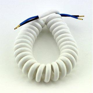 1polig Fußschalter Lampen-Schalter für 2- und 3-adrige Kabel Weiß 2 A