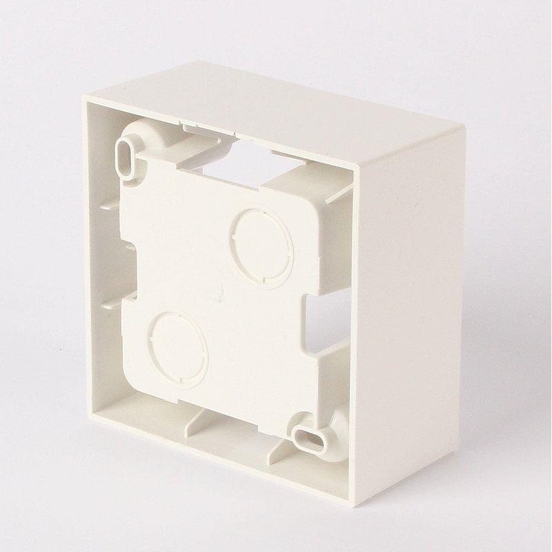 aufputzgeh use f r schalter steckdosen 1 fach reinwei 5 95. Black Bedroom Furniture Sets. Home Design Ideas