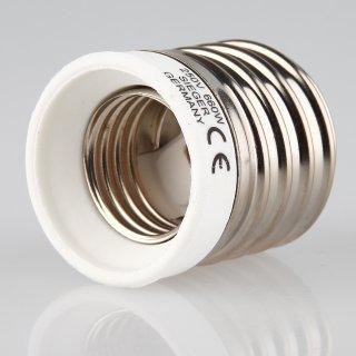 E40 auf E27 Lampen-Fassung Adapter Keramik für alte Industrielampe