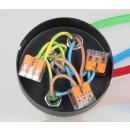 Lampen Metall Baldachin 100x25mm edelstahloptik für 3 Lampenpendel mit Zugentlaster aus Metall