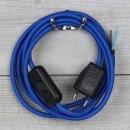 Textilkabel Anschlussleitung 2-5m dunkel-blau mit...