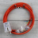 Textilkabel Anschlussleitung 2-5m orange Schalter u....