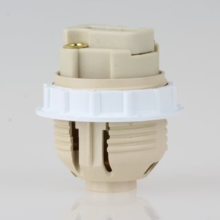 G9 Hochvolt Halogen Lampenfassung 26 mm Durchmesser M10 Innengewinde mit Schraubring