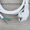 2,0m Anschlussleitung weiß 3x1,0mm² mit...