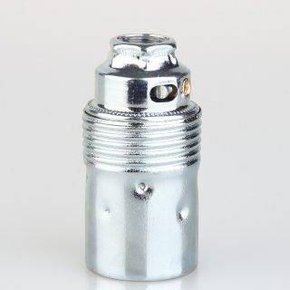 E14 Premium Metallfassung verchromt ohne Außengewinde M10x1 IG 250V/2A