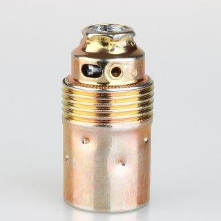 E14 Premium Metallfassung vermessingt ohne Außengewinde M10x1 IG 250V/2A