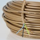 PVC Lampenkabel Rundkabel gold 4-adrig 4x0,75mm² H03...