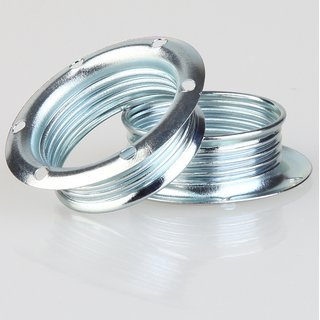 E14 Schraubringe Metall verchromt 40x12,5mm für Metallfassung
