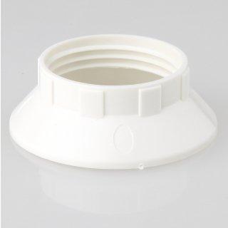 E14 Unterring Schraubring Thermoplast weiss 43x15mm für Kunststoff Fassung