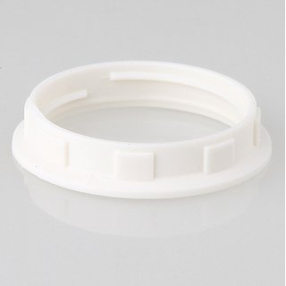 E14 Unterring Schraubring Thermoplast weiss 35x7mm für Kunststoff Fassung