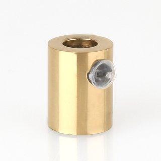 Zugentlaster Metall Messing poliert mit M10x1 Innengewinde