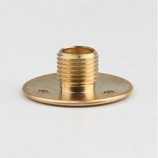 Wandnippel Scheibennippel Aufbauscheibe Metall Messing M10x1 Aussengewinde 26x10mm