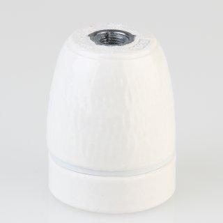 E27 Premium Porzellanfassung glasiert mit M10x1 Innengewinde