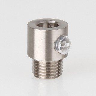 Zugentlaster Metall edelstahloptik mit M10x1x7 Aussengewinde
