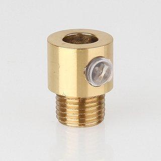 Zugentlaster Metall Messing poliert mit M10x1x7 Aussengewinde