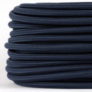 Textilkabel Stoffkabel marineblau 3-adrig 3x0,75 Gummischlauchleitung 3G 0,75 H03VV-F textilummantelt