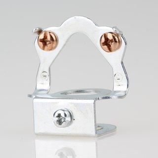 Lampen Pendelrohr Aufhänger Metall, Klemmbefestigung und Erdung M13 Universalloch