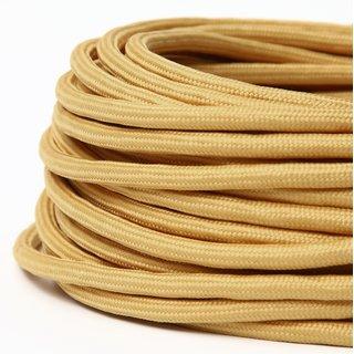 Textilkabel Stoffkabel beige 2-adrig 2x0,75 Zug-Pendelleitung S03RT-F