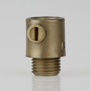 Zugentlaster Kunststoff gold mit M10x1x7 Aussengewinde