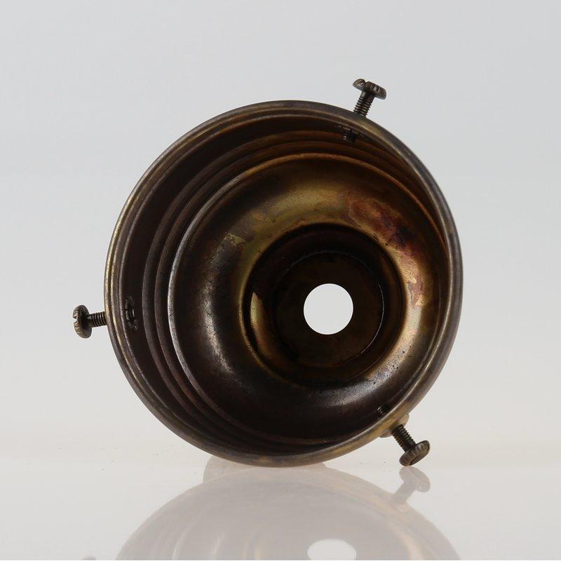 Möbel & Wohnen Lampenschirm Glashalter 70x39mm Antik Fume