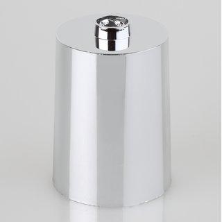 Lampen Leuchten Baldachin 60x85mm Kunststoff chromfarbig Zylinderform für 10er Rohr
