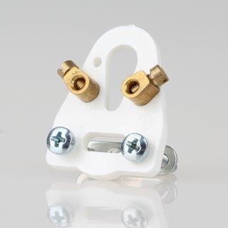 Lampen-Kabelaufhänger weiß Kabel Zugentlastung 24x32 mit Kabelschelle 2 Schrauben 2 Nietbuchse