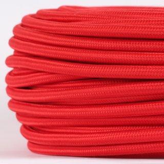 Textilkabel Stoffkabel rot 3-adrig 3x0,75 Gummischlauchleitung 3G 0,75 H03VV-F textilummantelt