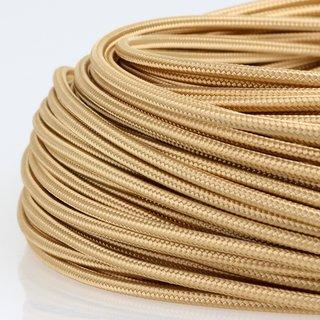 Textilkabel Stoffkabel gold 1-adrig 1x0,75mm² Einzeladerleitung